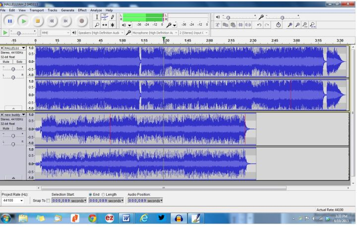 AUDACITY TWO TRACKS