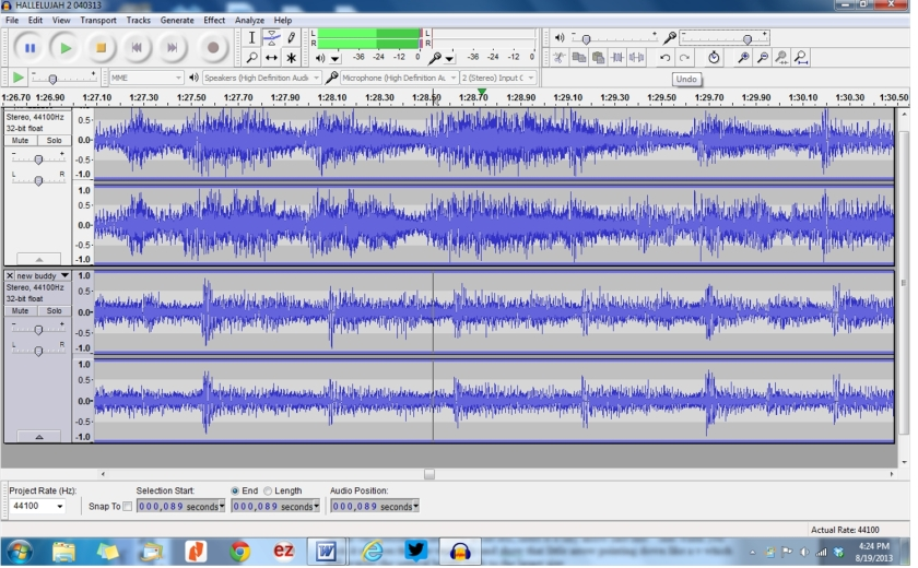 ENLARGED TRACKS TO COMPARE
