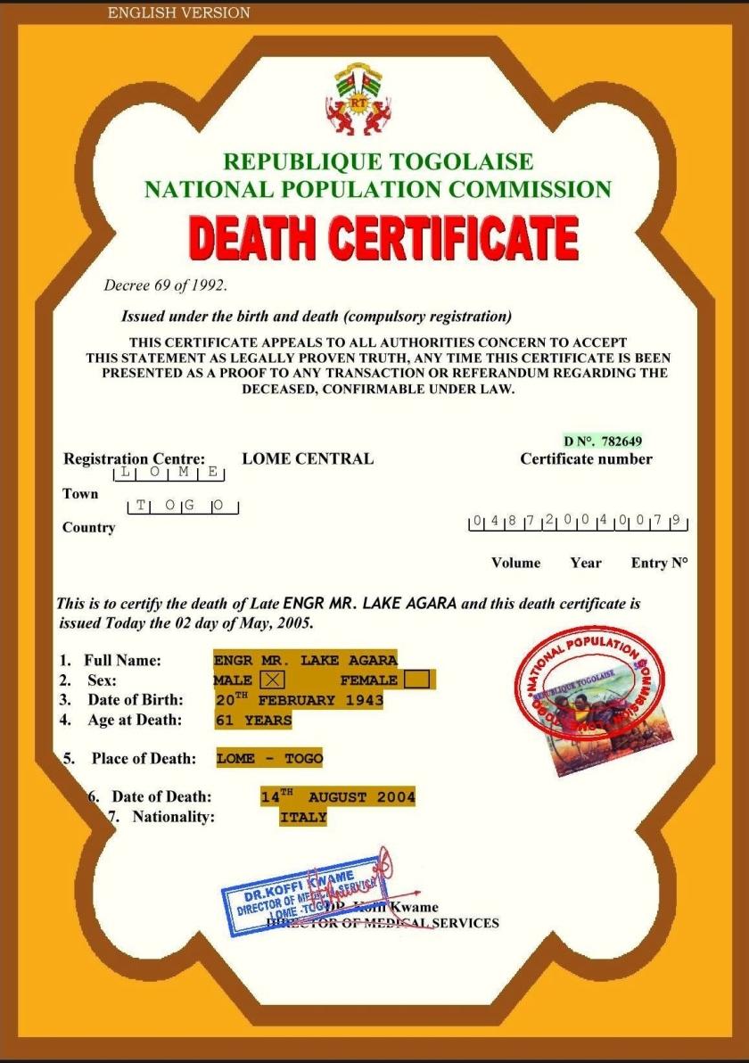 DEATH CERT
